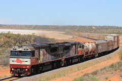 1GP1 Lake Hart (evenst3132) Tags: sct specialisedcontainertransport sctclass trainsofaustralia transaustraliarailway trains freight lakehart intermodaltrains australiantrains aussietrains aussieoutback