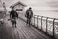 The fishermen (raymorgan4) Tags: fish fishing angler rod penarth pier bristol channel friends pals mates cod bass sea water bait sony a6000 winter blackandwhite monochrome south wales cardiff