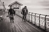 Caught anything? (raymorgan4) Tags: fish fishing angler rod penarth pier bristol channel friends pals mates cod bass sea water bait sony a6000 winter blackandwhite monochrome south wales cardiff
