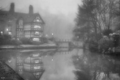 The Packet House (Kev Walker ¦ 7 Million Views..Thank You) Tags: bridgewatercanal building canon1855mm canon700d digitalart fog hdr lancashire manchester mist northwest worsley reflections blackwhite