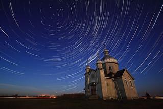 Star Trails at Ukrainian Orthodox Church