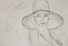 My Lady in a Hat (BKHagar *Kim*) Tags: bkhagar art artwork sketch 2minute artday drawing lady woman hat pencil multimediapaper