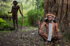 Warriors - Yesterday & Today (wu di 3) Tags: papua indonesia dani tribe koteka warrior old young