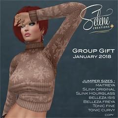 Group gift january 2018 (Selene Morgan) Tags: group gift free selenecreations maitreya lara slink hourglass original physique belleza isis freya tonic curve fine bento
