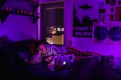 Dreams (aaronlovelock) Tags: enviromental portraiture portrait people indoor colour lighting long exposure dream