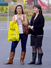 Maybe Sisters 2 (booster_again) Tags: jeans skirt tights pantyhose boots