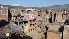 Bhaktapur, Nepal (posterboy2007) Tags: nepal architecture homes repair earthquake damage panorama sony bhaktapur
