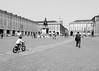 Victory Road (MrTheEdge7) Tags: torino turin italy italia piazzacastello piazza castello castlesquare square tricycle trike statue blackandwhite bw