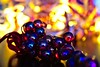 Fire Grapes (LuziferFA) Tags: macro mondays macromondays memberschoice bokeh memberschoicebokeh grape grapes traube trauben weintrauben glas shiny reflection xmas christmas weihnachten beleuchtung lichter light lights warm colorful