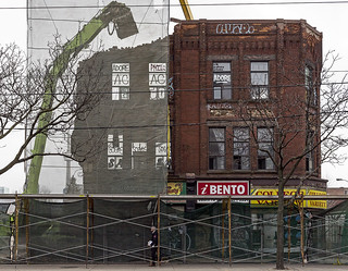 20171228. Demolishing heritage architecture on College St to make way for the DesignHaus condos.