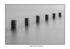 SIX SENTINELS (mark_rutley) Tags: coast extremeexposure hampshire leebigblocker leefilters leeonsolent longexposure sea solent blackandwhite