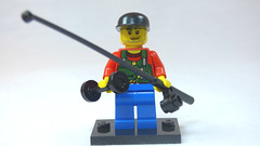 Brick Yourself Custom Lego Figure Weight Lifting Fisherman
