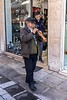 Busker, Pangrati, Athens (jeremyhughes) Tags: athens greece busker woodwind street cap instrument busking sony rx1rii ziess 35mm candid pipiza zurna gypsy pangrati