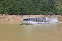 President No. 8 (oxfordblues84) Tags: peoplesrepublicofchina china oat overseasadventuretravel yangtzerivercruise yangtzeriver victoriacruises victoriajenna victoriajennacruise river gorge rivergorge scenicrivercruise riverboatcruise riverbank muddyriver water muddywater presidentno8 cruiseship zongtongbahao riverboatcruiseship ship vessel rivervessel trees tree threerivergorge