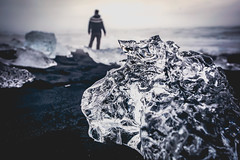 Diamond Beach (West Leigh) Tags: iceland magic nature ice sand volcanic explore experience dream discover wanderlust wander travel naturalbeauty nordic north universe perspective canoneos6d travelphotography man melt
