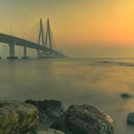 Bandra Worli sea link - Long exposures! thumbnail