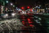 snow plowed street during bomb cyclone snowstorm 2018 (PhotographerRob) Tags: bombcyclone newyork blizzard manhattan snowstorm dark skyscrapers wtc skyline worldtrade streetlights
