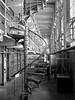 Alcatraz Interior (B&W) (jonhuskisson) Tags: sanfrancisco california usa travel blackandwhite blackwhite bw monochrome alcatraz prison penitentiary cell jail