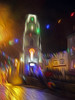 Penryn Lights 3 Oiled (Cornishcarolin. Thank you for over 2 Million Views) Tags: cornwall penryn christmaslights evening rain clock clocktower tower building architecture oil oilfilter filters