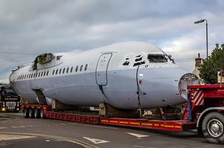 G-CJNS Ex Brussels Airlines Avro RJ100 @ Cranfield Airfield, Milton Keynes, Bedford.