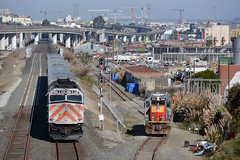 urban clutter.... (CN Southwell) Tags: caltrain up union pacific ssw cotton belt patch gp60 f40ph f40 san francisco