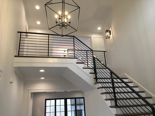 Modern stair and railings