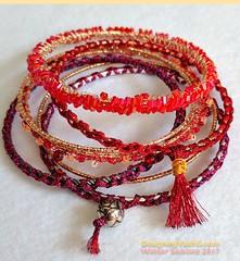 Solstice Bangles 2017 (vashtirama) Tags: designingvashti crochetjewelry bangle crochetbracelet coveredring beaded beads