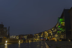Münster Hafen 20171222  22 (Dirk Buse) Tags: münster nordrheinwestfalen deutschland deu nrw germany hafen abend dunkelheit beleuchtung licht farbe color colours gebäude architektur architecture olympus omd em5ii sigma 16mm 16 1614 14 mft m43 hires dcdn