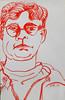 2017.08.29 New Red Ink (Julia L. Kay) Tags: juliakay julialkay julia kay artist artista artiste künstler art kunst peinture dessin arte woman female sanfrancisco san francisco sketch dibujo selfportrait autoretrato daily everyday 365 self portrait portraiture face dpp dailyportraitproject paper brush ink