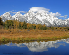 Cathedral Group and Schwabacher's Landing, Teton County, Wyoming (4 Corners Photo) Tags: 4cornersphoto autumn cathedralgroup clouds color fall forest glacier grandteton grandtetonnationalpark landscape middleteton morning mountowen mountains nature northamerica outdoor rockymountains rural scenery schwabacher'slanding sky snakeriver snow teewinotmountain tetoncounty tetonrange tree unitedstates water weather wyoming moose us nezpercepeak