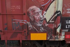 OTHER (TheGraffitiHunters) Tags: graffiti graff moniker streak street art colorful freight train tracks benching benched other