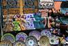 Colours of Grand Bazaar (look_at_em_Poe) Tags: beyazıt kapalı çarşı büyük istanbul grand bazaar turkey turchia market porcelain plate iznik ceramic pottery china tableware arab calligraphy souvenir mosaic