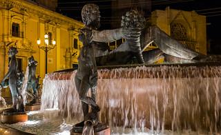 Turia Fountain at Night - Valencia (Fujifilm X100F 23mm f2 Compact) (1 of 1)