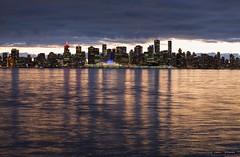 Vancouver Skyline (Clayton Perry Photoworks) Tags: vancouver bc canada northvancouver explorebc explorecanada dock burrarddrydock skyline canadaplace city night lights