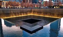 Reflecting absence (ArmyJacket) Tags: worldtradecenter newyorkcity 911 nyc wtc manhattan memorial city outdoor water