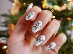 Holiday Nails (allfalldown) Tags: christmas happy holidays nail art manicure polish stamping lights multi color tree white festive festivus merry warm holly jolly season