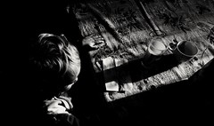 Morning sun (andrea.conficoni) Tags: light lighthouse children sunlight sun kitchen blackandwhite blackandwhitephotography bnw bw biancoenero love noir monochrome