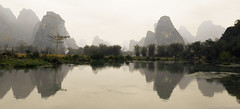 Reflections on the Ming River. (christorrington) Tags: reflections mingriver limestone karsthills guilin