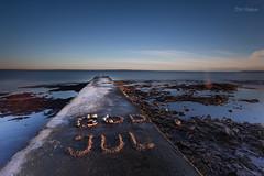 God Jul (Normann Photography) Tags: holidays merrychristmas oslofjord godjul molo pier shallowwaters smoothwater tønsberg vestfold norway no