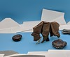 Bear in a river (Tony Koppers) Tags: patricio kunz tomic origami bear river fish washi