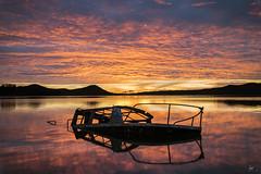 Ghost Ship (iurgi.) Tags: barco fantasma ghost ship atardecer sunset landa alava colores colors