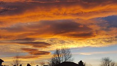 December 29, 2017 - Stunning sunset with wave clouds. (David Canfield)
