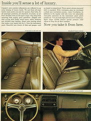 1968 Chevrolet Camaro Hardtop Interior (coconv) Tags: car cars vintage auto automobile vehicles vehicle autos photo photos photograph photographs automobiles antique picture pictures image images collectible old collectors classic ads ad advertisement postcard post card postcards advertising cards magazine flyer prestige brochure dealer 1968 chevrolet camaro hardtop interior 68 chevy seats bucke steering wheel dashboard dsh