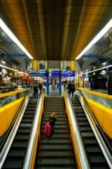 Geneva Airport (olivierurban) Tags: escalier stairs airport aéroport genève geneva suisse switzerland reflet reflection sonyilce6000 e1018mmf4oss