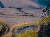 Coastal patterns (NikNak Allen) Tags: devon bantham beach sand dunes path footpath grass grasses rocks water sea ocean coast bay seaweed landscape drone aerial above down look sunset light dji phantom 4k djiphantom fence yellow green blue