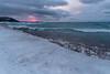 Temperature Spike, Van's Beach (Aaron Springer) Tags: michigan northernmichigan lakemichigan thegreatlakes lakeshore shoreline sunpillar sunset winter snow ice waves clouds outdoor nature landscape