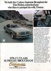 1976 Oldsmobile Cutlass Supreme Advertisement Readers Digest December 1975 (SenseiAlan) Tags: 1976 oldsmobile cutlass supreme advertisement readers digest december 1975