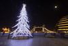 London Christmas scene (BJSmit) Tags: london christmas christmastree londontower towerbridge