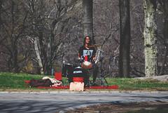 Park Drummer (R. WB) Tags: music drummer player street park musician central new york manhattan usa america american