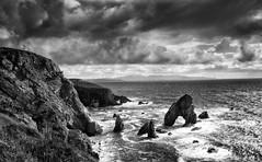 Dark  Arch (-- Q --) Tags: crohyheadseaarch atlanticocean atlanticcoast wildatlanticway seastacks seascape maghery ireland codonegal dungloe monochrome blackwhitephotos aiveensboathouse lee09softgrad lee06softgrad marumidhgcpl qthompson